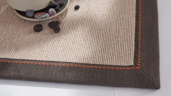 Tretford Teppiche mit Bordüre aus Leinen 3 Meter Breit