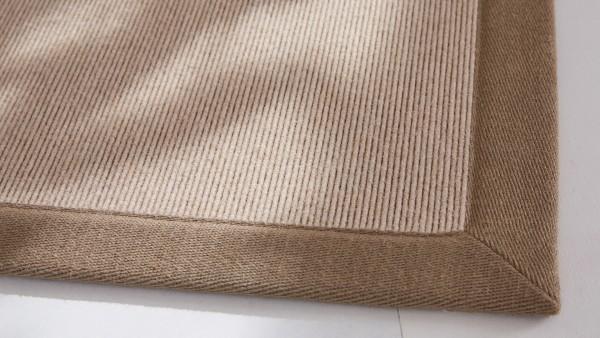 Tretford Teppiche mit Bordüre aus Leinen 4 Meter Breit